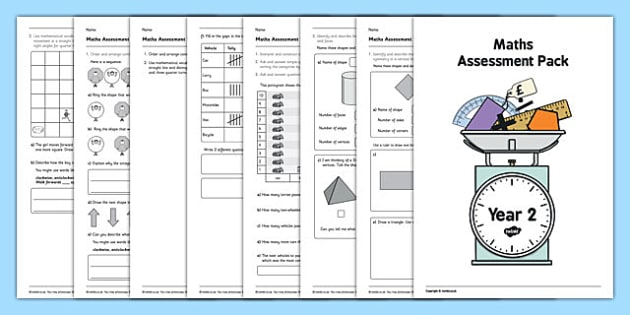 Year 2 Maths Assessment Pack Term 3 - Maths, Assessment, Year 2, term 3