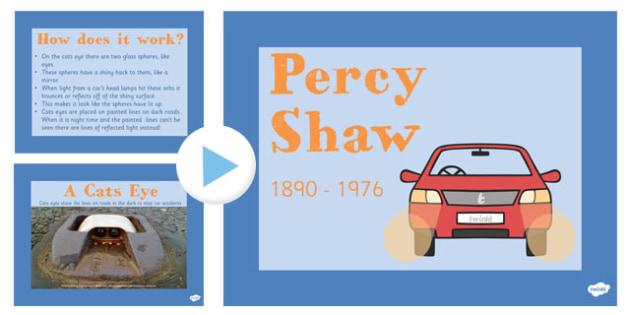 Percy Shaw PowerPoint Presentation - percy shaw, powerpoint