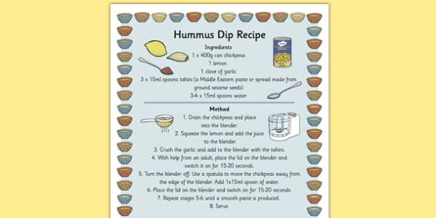 Hummus Recipe - hummus, recipe, sheet, cooking, dip, dippers
