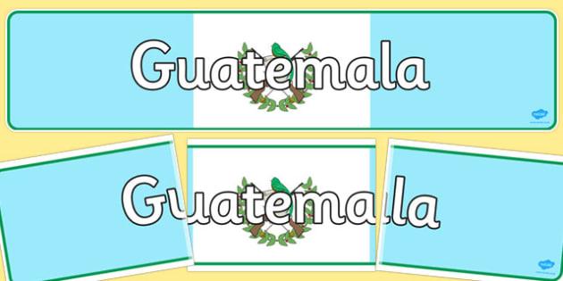 Guatemala Display Banner - guatemala, display banner, display