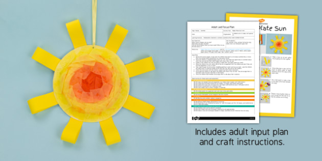 & Paper Plate Sun Adult Led Focus Plan and Craft Pack - adult led