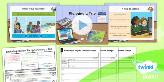 Geography: Exploring Eastern Europe: Planning a Trip Year 5 Lesson Pack 5