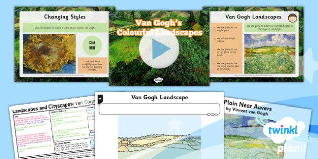 Art and Design: Landscapes and Cityscapes: Van Gogh Landscapes: KS1 Lesson Pack 3