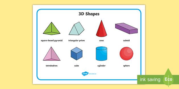 Free 3d Shape Word Mat Teacher Made