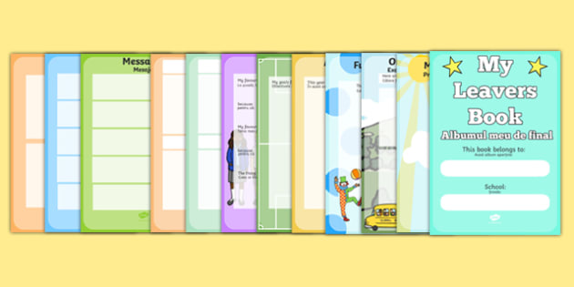 School Leavers Scrapbook Romanian Translation - school leavers, leavers, school, scrapbook, scrapbooking, photo, photos, memories, year, final, creative, creativity, scrap book, leaving, school