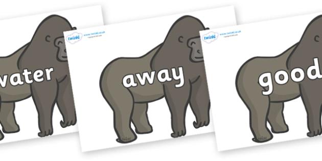 Next 200 Common Words on Gorillas - Next 200 Common Words on  - DfES Letters and Sounds, Letters and Sounds, Letters and sounds words, Common words, 200 common words