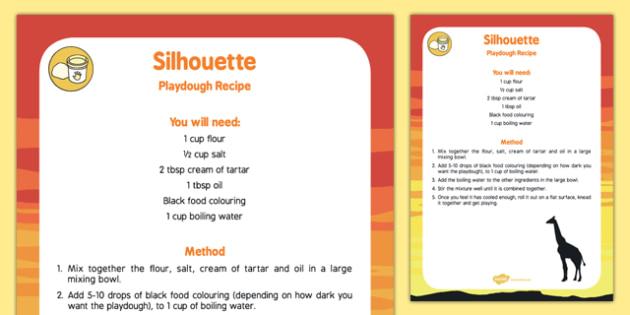 Silhouette Playdough Recipe