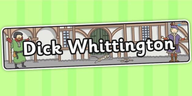 Dick Whittington Display Banner - display, banner, banner display