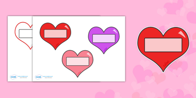 Valentine's Day Editable Self Registration Hearts - valentines