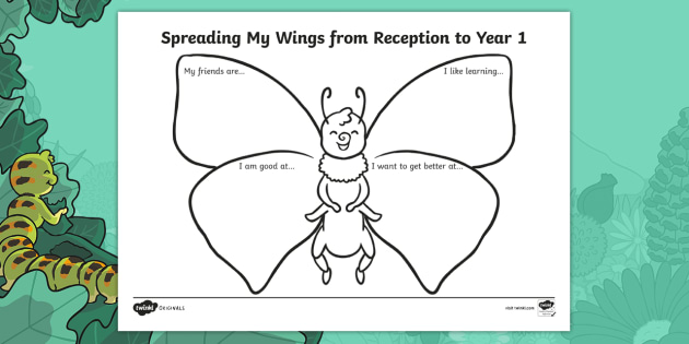 Spreading My Wings from Reception to Year 1 Transition Worksheet