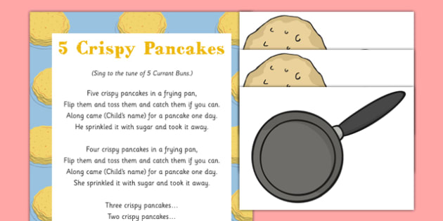 Five Crispy Pancakes Song - Shrove Tuesday, five, crispy, pancakes, song