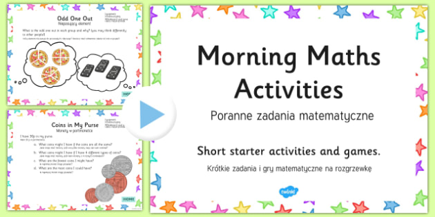 Morning Maths Activities PowerPoint Polish/English