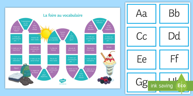 End-of-Year Vocabulary Revision Board Game French - KS3, KS4, French, Fun, Revise, themes, play,French