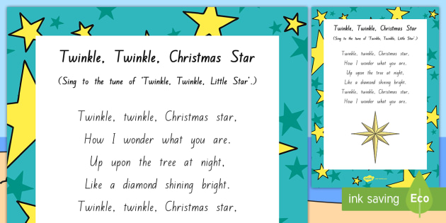 twinkle twinkle christmas star song mat time resources songs music