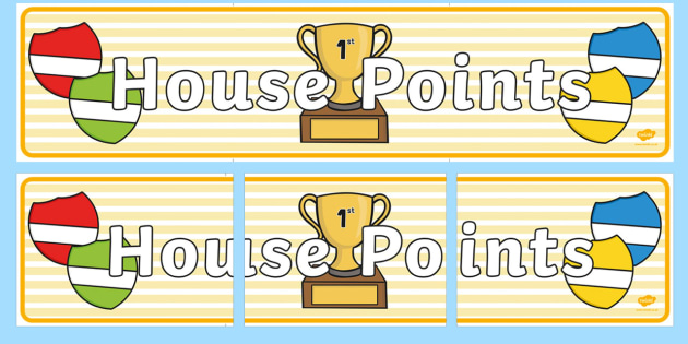 House Points Display Banner - house points, display banner, display