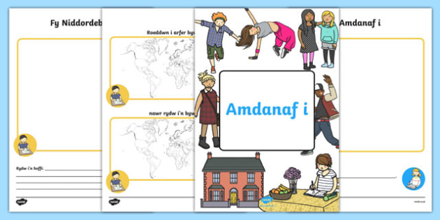 Llyfryn Amdanaf i Activity Booklet-Welsh