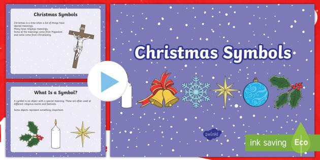 Ks1 Christmas Symbols Information Powerpoint Pagan Symbols