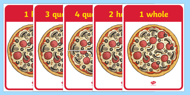 free  - pizza fractions