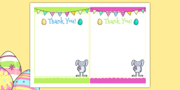 Easter Party Thank You Cards - easter, party, thank you cards