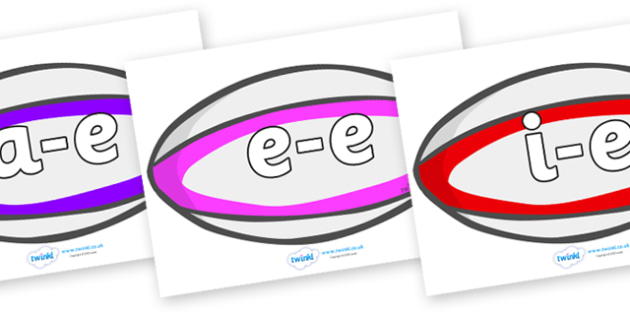 Modifying E Letters on Rugby Balls - Modifying E, letters, modify, Phase 5, Phase five, alternative spellings for phonemes, DfES letters and Sounds