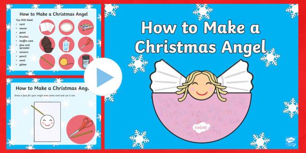 Christmas Angel Craft Activity PowerPoint - christmas, christmas craft, christmas crafts, christmas angel, crafts, art, powerpoint, christmas powerpoint