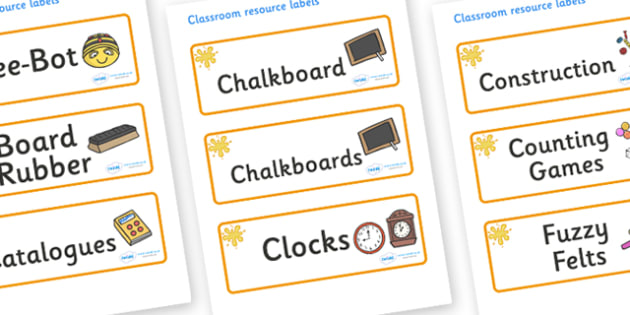 Amber Themed Editable Additional Classroom Resource Labels - Themed Label template, Resource Label, Name Labels, Editable Labels, Drawer Labels, KS1 Labels, Foundation Labels, Foundation Stage Labels, Teaching Labels, Resource Labels, Tray Labels, Pr