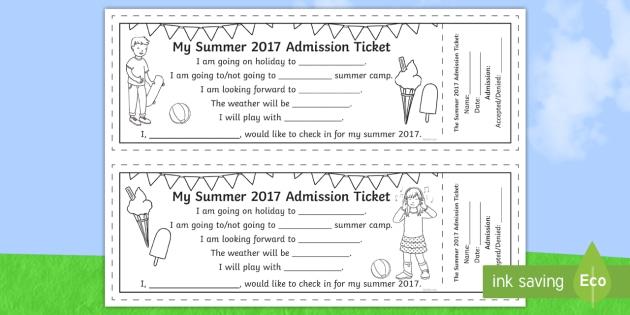 my summer 2017 admission ticket roi summer art ticket