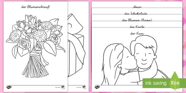 Nett Ausmalbilder Des Valentinstags Fotos - Ideen färben - blsbooks.com