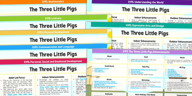 EYFS The Three Little Pigs Lesson Plan and Enhancement Ideas - planning, the thre little pigs, lesson plan, lesson plan ideas, lesson ideas, lesson planning, teaching plan, EYFS, ideas