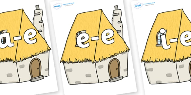 Modifying E Letters on Cottage - Modifying E, letters, modify, Phase 5, Phase five, alternative spellings for phonemes, DfES letters and Sounds