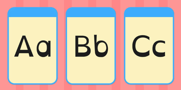 Alphabet Flashcards Dyslexia - alphabet, flashcards, dyslexia