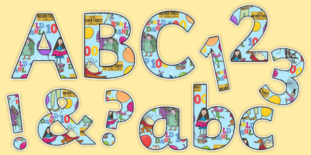 Roald Dahl 100 Display Letters and Numbers Pack
