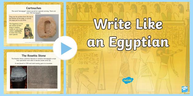 Hieroglyphics PowerPoint - egypt, eygptian, egyot, hieroglyphics