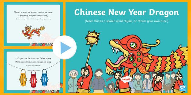 chinese new year dragon song powerpoint - eyfs, early years, key, Powerpoint templates