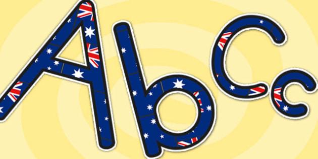 Australian Display Lettering - australia, letter, display letters