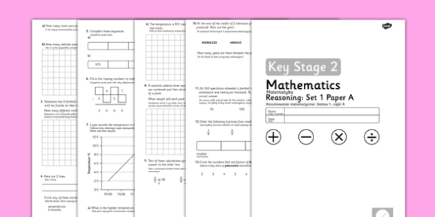 Year 5 Maths Reasoning Tests Set 1 Polish Translation - polish, reading, scales, activity, sheet, read, maths