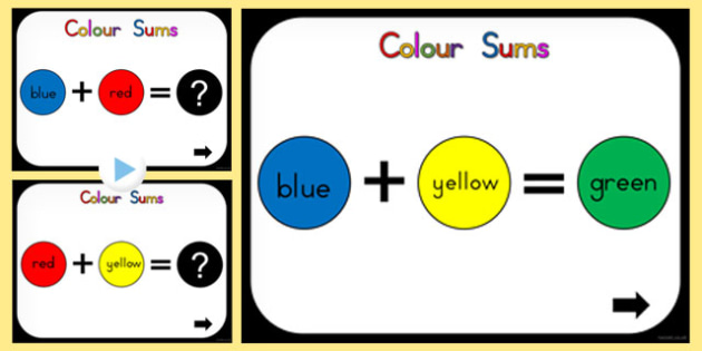 Colour Mixing Sums PowerPoint (Australia) - colours, powerpoints