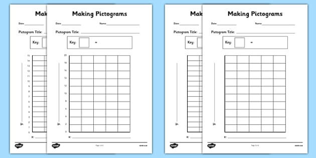 making pictograms templates making pictograms make