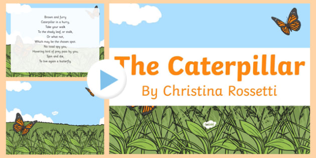 The Caterpillar by Christina Rossetti Poem PowerPoint