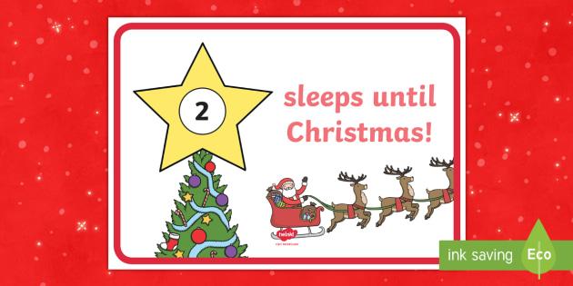 sleeps until christmas countdown display sign christmas countdown event how many sleeps - Sleeps Until Christmas