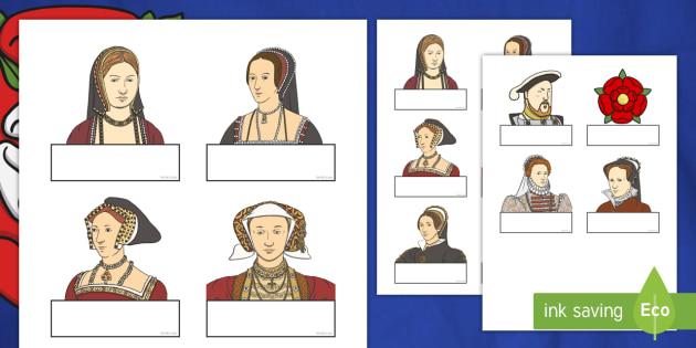 Editable Self Registration Labels (The Tudors) - Tudors, Henry, history, Henry VIII, Tudor, England, Queen Elizabeth I, Church of England, reformation