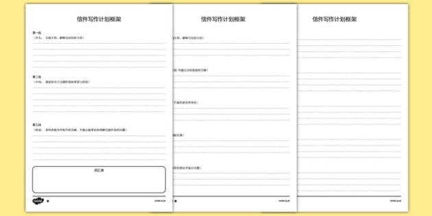 信件写作分级规划框架