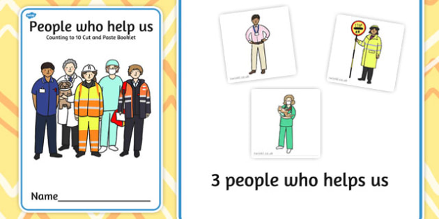 People Who Help Us Counting to 10 Cut and Paste Booklet - count