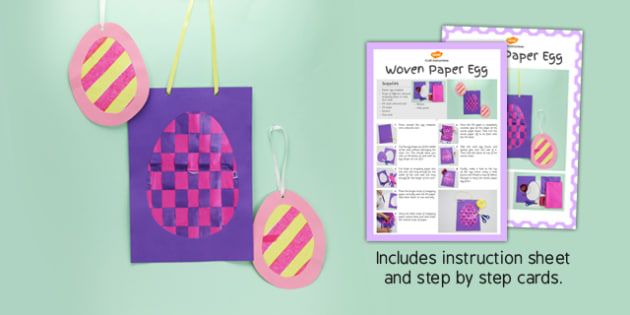 Woven Paper Egg Craft Instructions - paper, egg, woven, craft