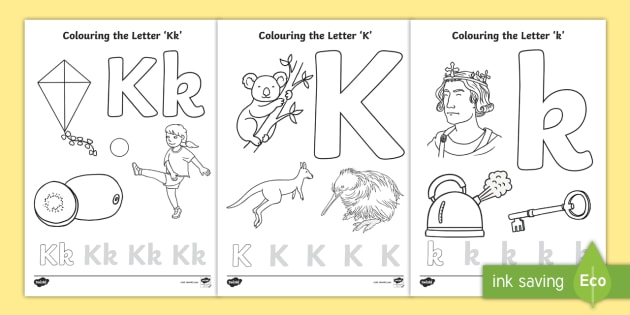 Letter K Coloring Pages Coloring Coloring Sheets