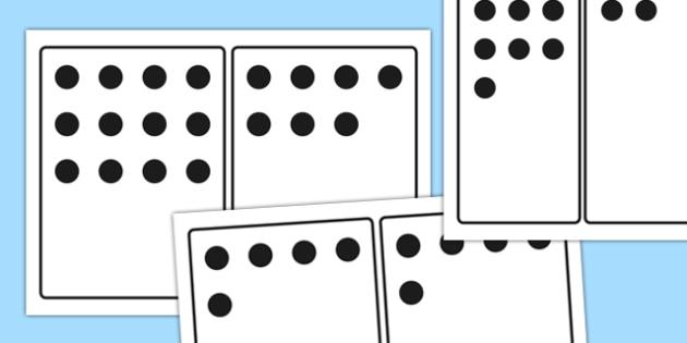 0-20 Number Subitizing Flash Cards - 0-20, number, subitizing, flash cards, flashcards
