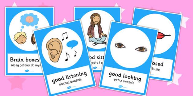 Good Listening Posters Polish Translation - polish, good, listening