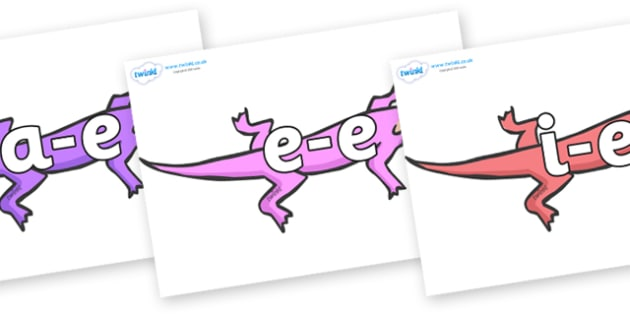 Modifying E Letters on Lizards - Modifying E, letters, modify, Phase 5, Phase five, alternative spellings for phonemes, DfES letters and Sounds