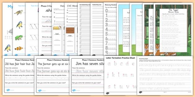 Parents' Handwriting Activity Pack