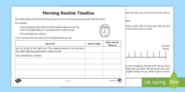 parallel timeline worksheet